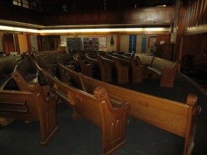 Napa Methodist Church Pews After Earthquake