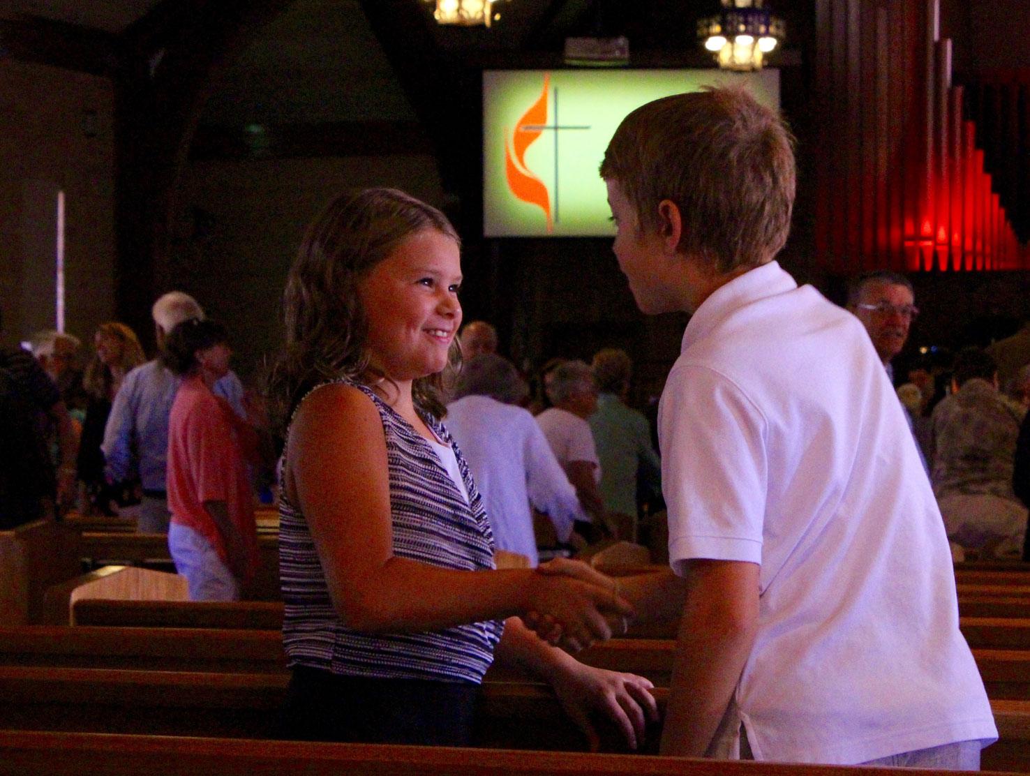 Napa Methodist Church Worship greeting
