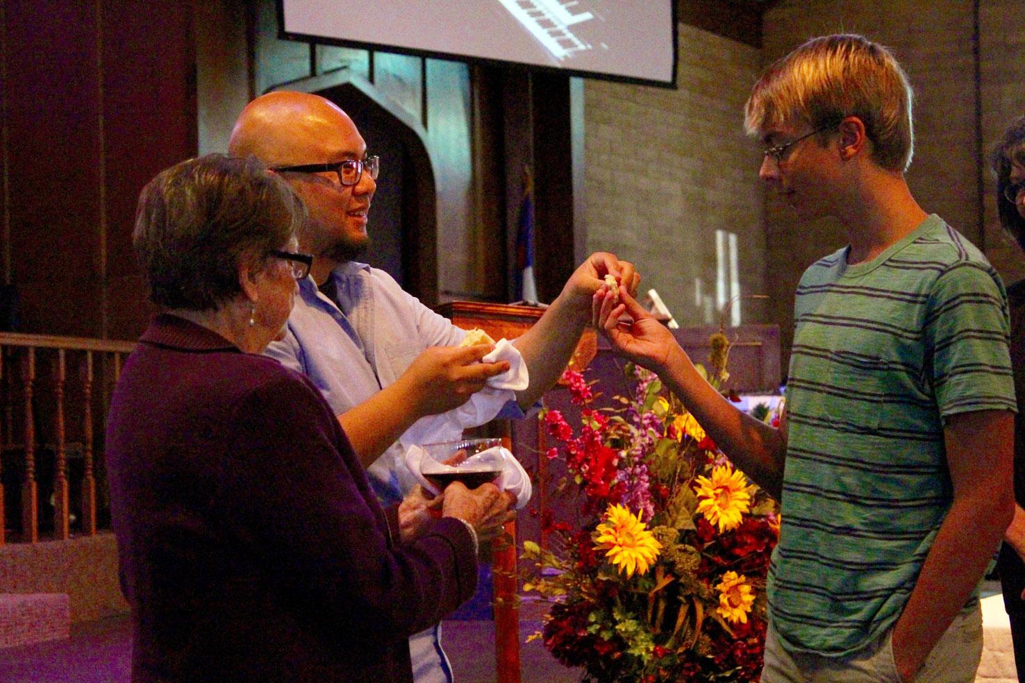 Napa Methodist Church communion