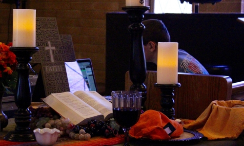 Napa Methodist Church Fusion Worship altar