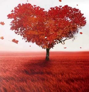 Love Trumps Fear heart tree