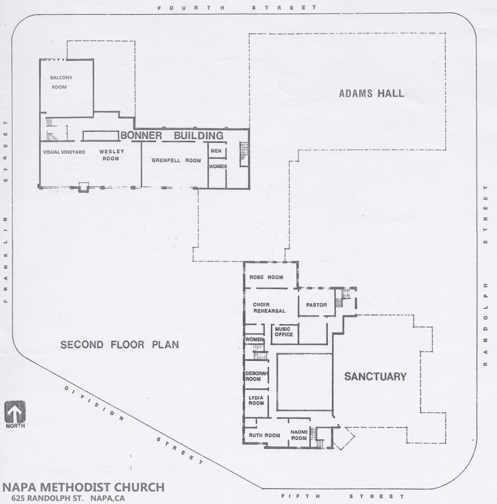 Napa Methodist Church Campus Map - Second Floor