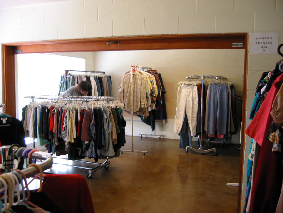 Napa Methodist Church Mini Thrift Shop Clothes